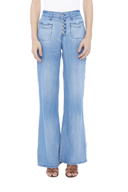 Somedays Lovin Missouri Chambray Flares - Front cropped