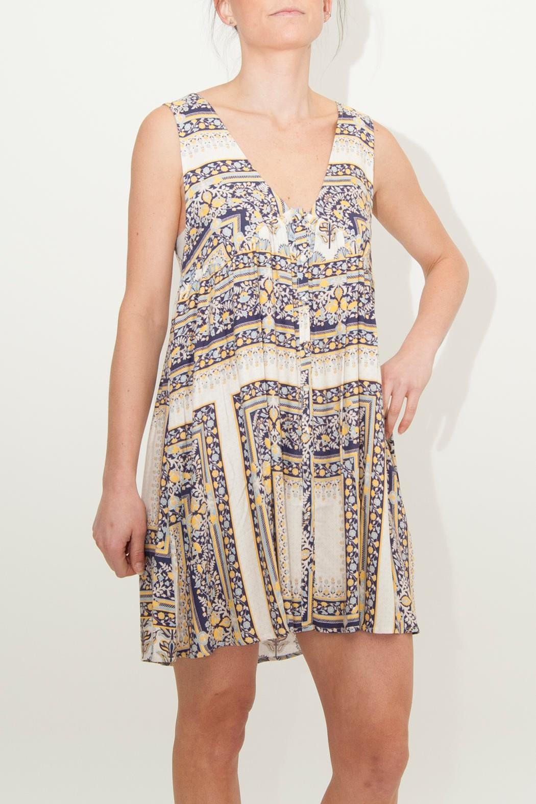 Somedays Lovin Calippo Scarf-Print Dress - Front Cropped Image