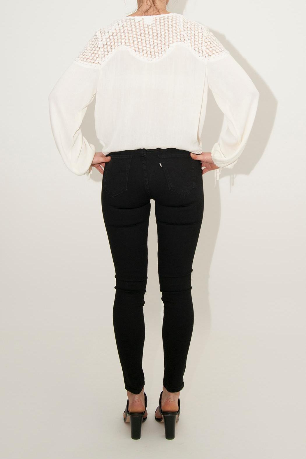 Somedays Lovin Eldora Cropped Blouse - Side Cropped Image