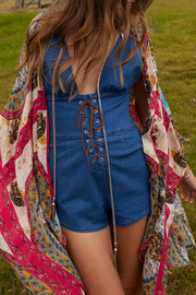 Somedays Lovin Jerry Denim Playsuit - Front cropped