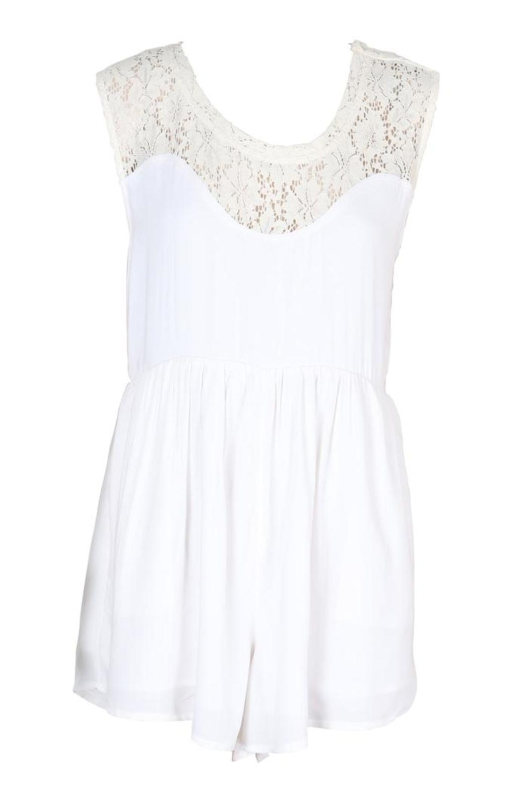 Somedays Lovin Rosie Lace Romper - Side Cropped Image