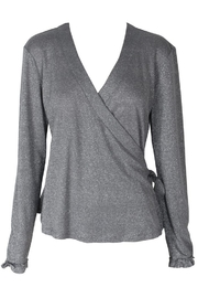 Somedays Lovin Shimmer Wrap Top - Front cropped