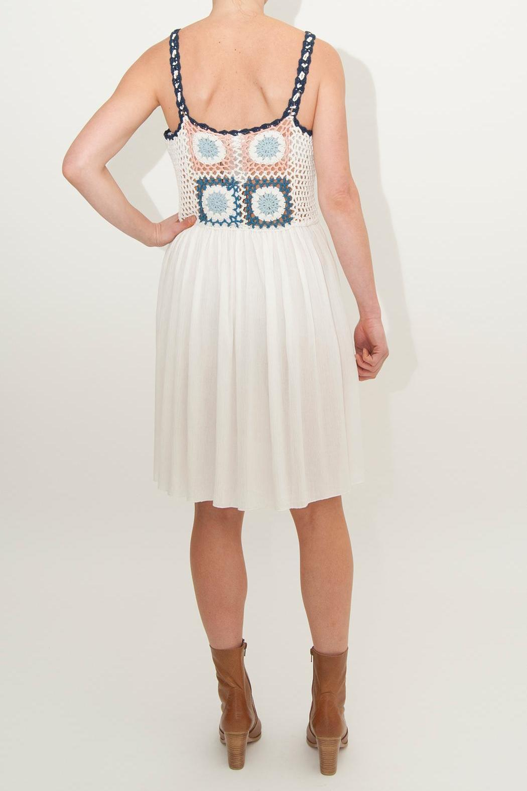 Somedays Lovin Tilda Crochet Smock-Dress - Front Full Image