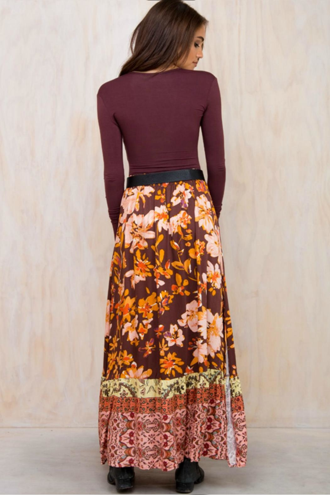 Somedays Lovin Wildflower Maxi Skirt - Side Cropped Image