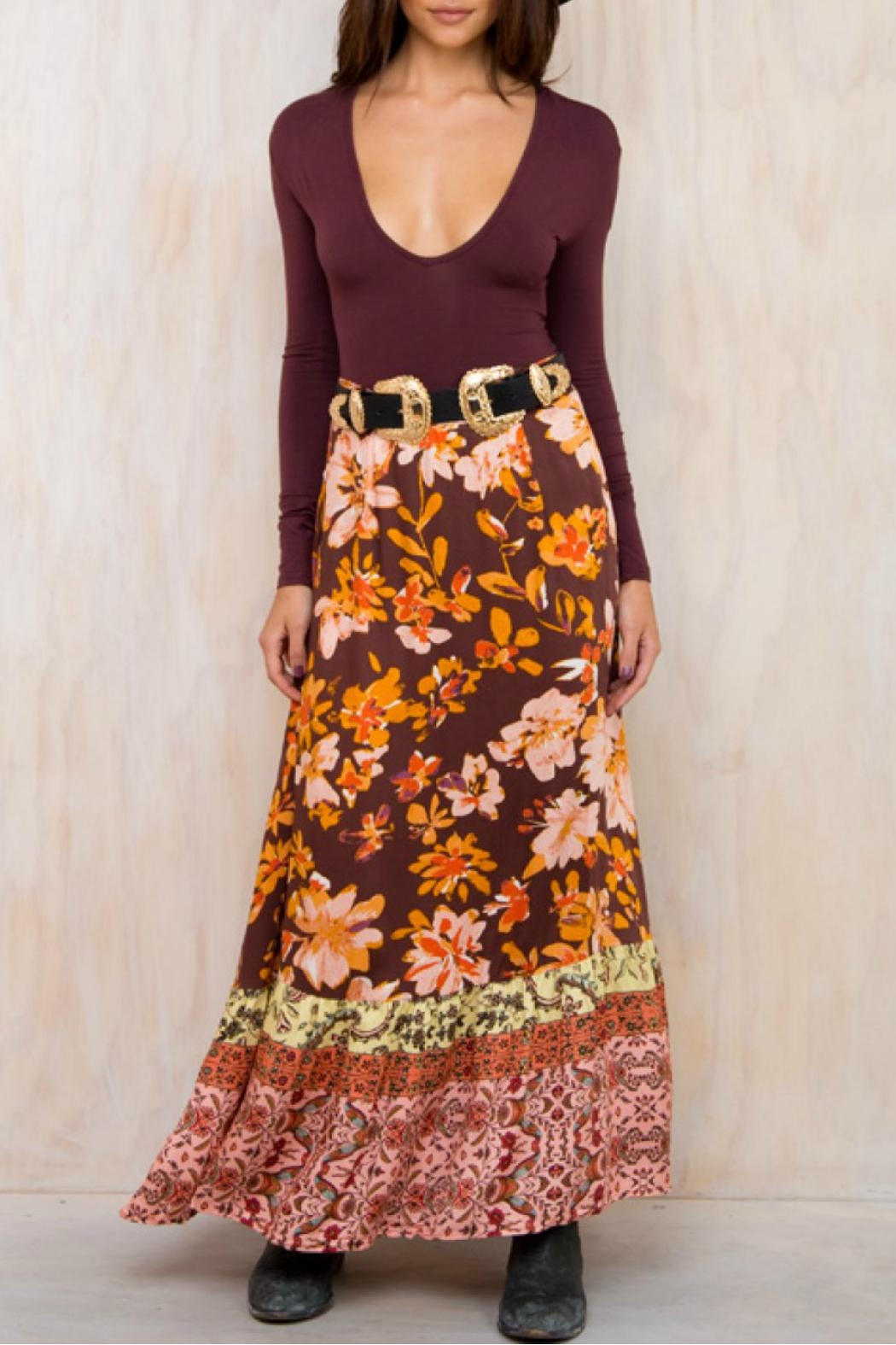 Somedays Lovin Wildflower Maxi Skirt - Front Cropped Image