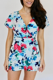 Adelyn Rae Somers Floral Wrap Romper - Product Mini Image