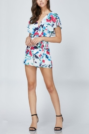 Adelyn Rae Somers Wrap Romper - Back cropped