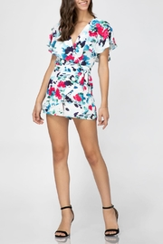 Adelyn Rae Somers Wrap Romper - Front cropped
