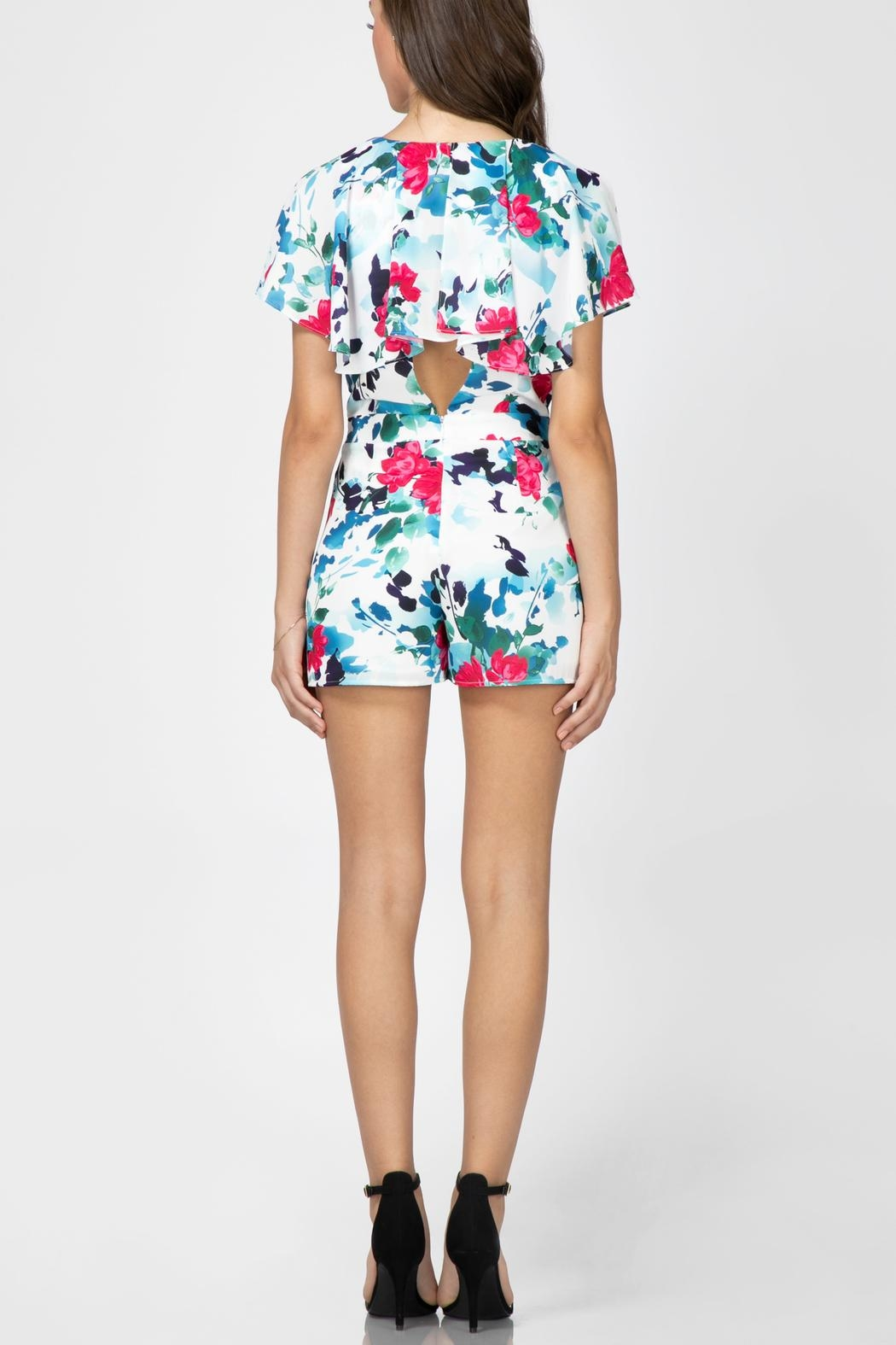 Adelyn Rae Somers Wrap Romper - Front Full Image