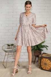 Easel  Purple Floral Dress - Front cropped