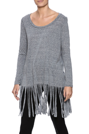 Something Urban Stone Fringe Top - Product Mini Image