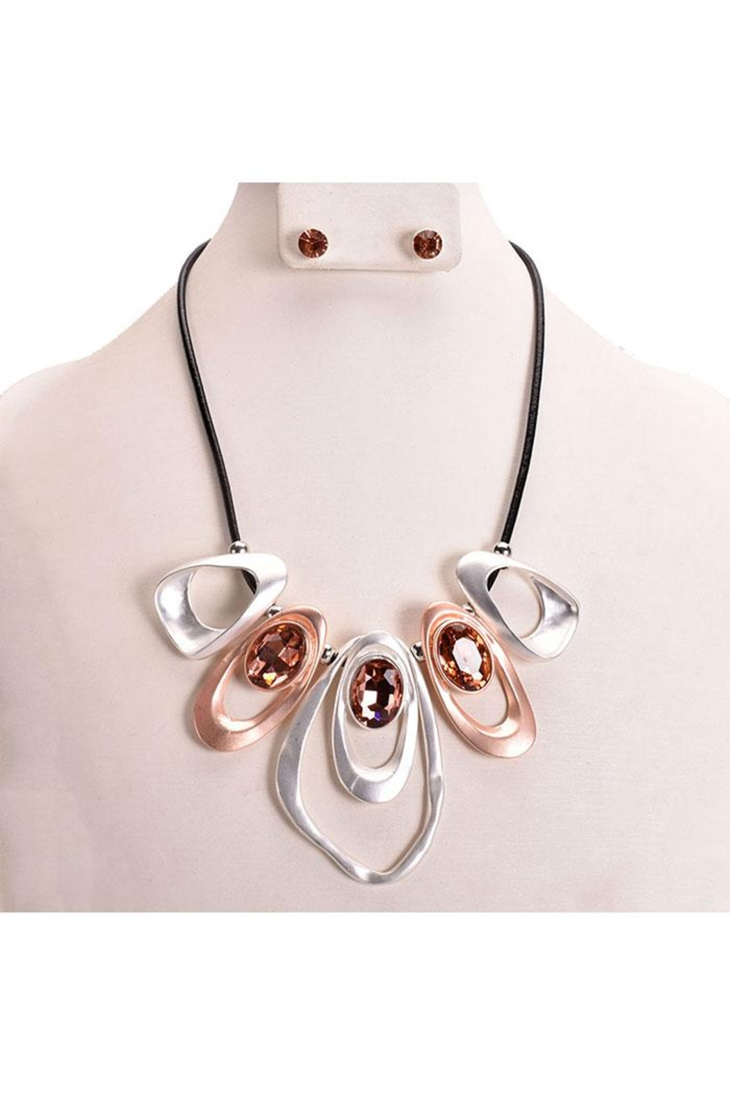 Something Special Abstract Art Necklace Set - Front Cropped Image