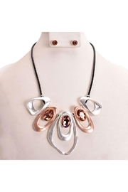 Something Special Abstract Art Necklace Set - Front cropped