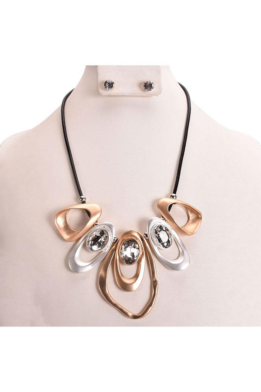 Something Special Abstract Art Necklace Set - Main Image