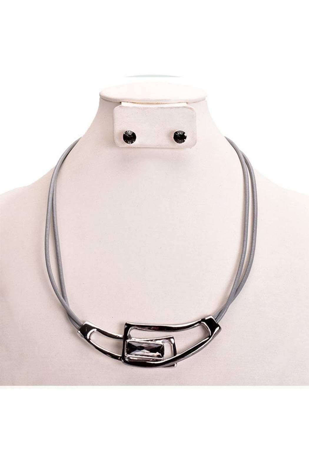 Something Special Artsy Geo Metal Necklace Set - Main Image