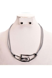 Something Special Artsy Geo Metal Necklace Set - Front cropped