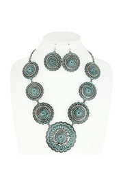 Something Special Concho Metal Necklace Set - Front cropped