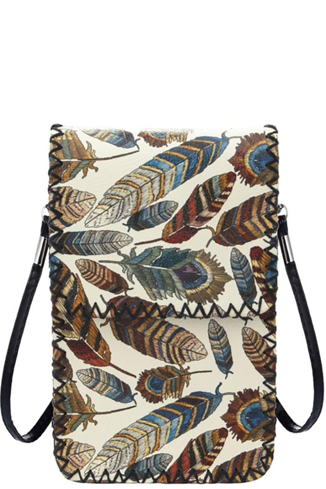 Something Special Feathers Detail Crossbody Bag - Main Image