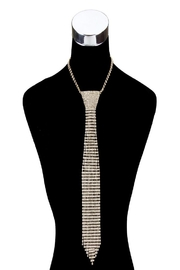 Something Special Long Rhinestone Tie Necklace - Product Mini Image