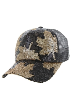 Something Special Maple Leaf Sequin Casual Cap - Alternate List Image
