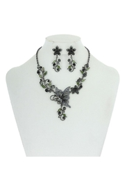 Something Special Metal With Stones Butterfly & Flowers Necklace Set - Product Mini Image