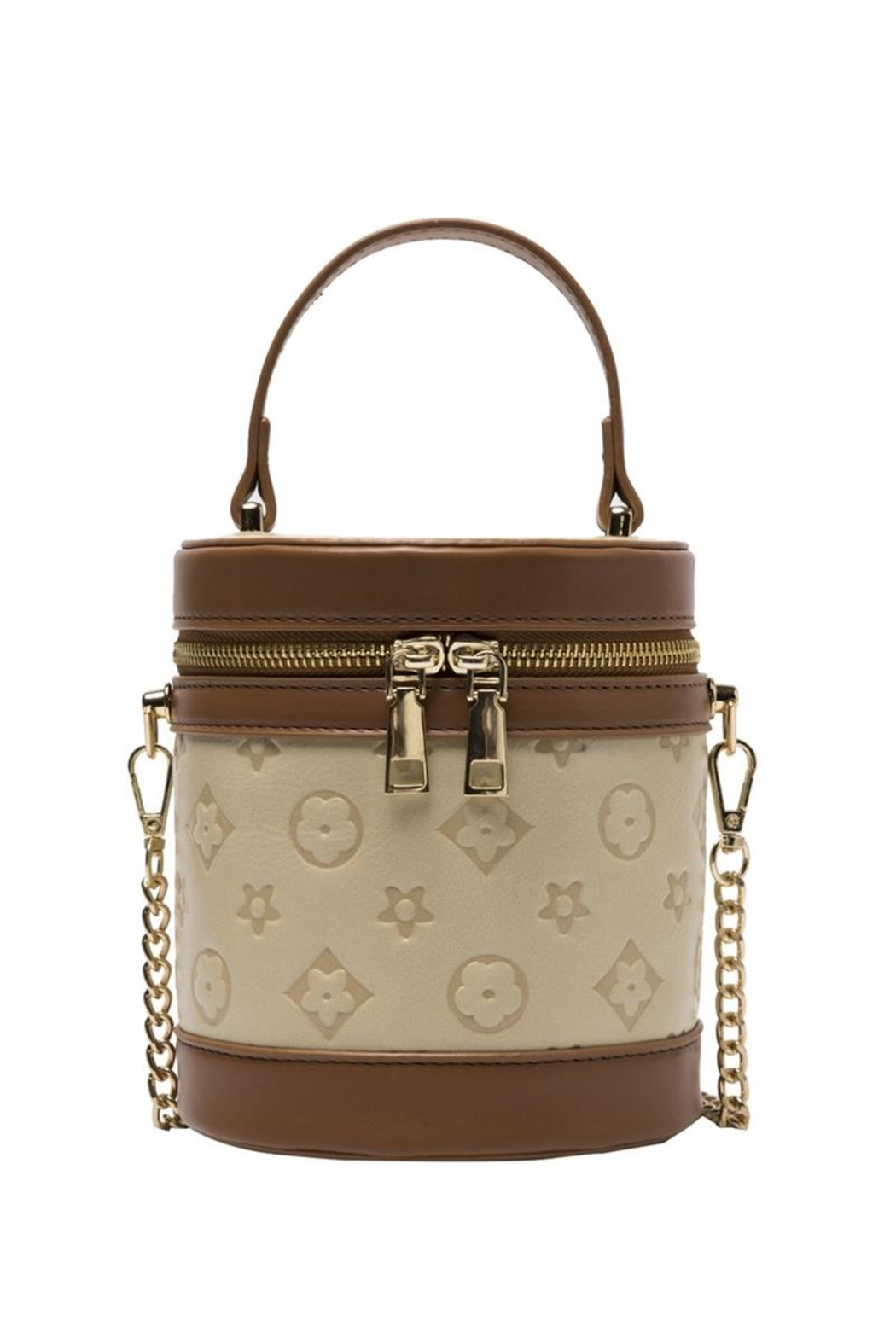 Something Special Printed Faux Leather Cylinder Crossbody - Main Image