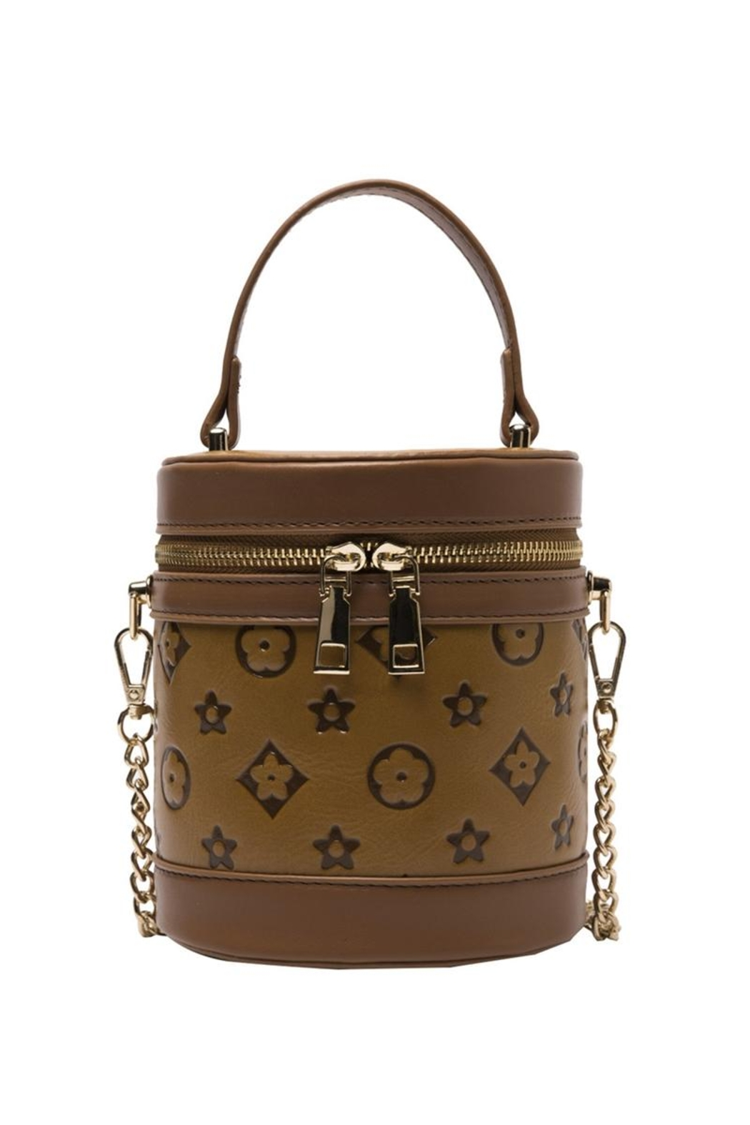 Something Special Printed Faux Leather Cylinder Crossbody - Front Cropped Image