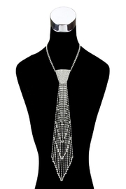 Something Special Rhinestone Tie Necklace - Product Mini Image
