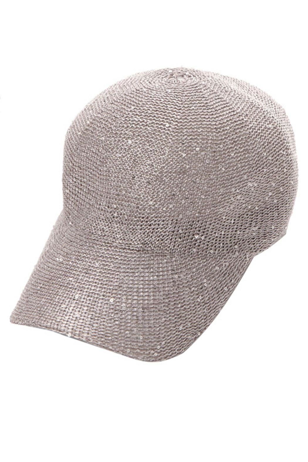 Something Special Sequin Knitted Baseball Hat - Front Cropped Image
