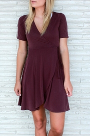 Something Urban Crisp Cabernet Dress - Product Mini Image