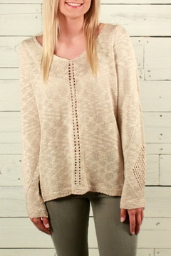 Something Urban Crochet Beige Sweater - Product List Image