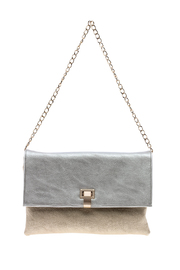 Sondra Roberts Silver And Gold Clutch - Product Mini Image
