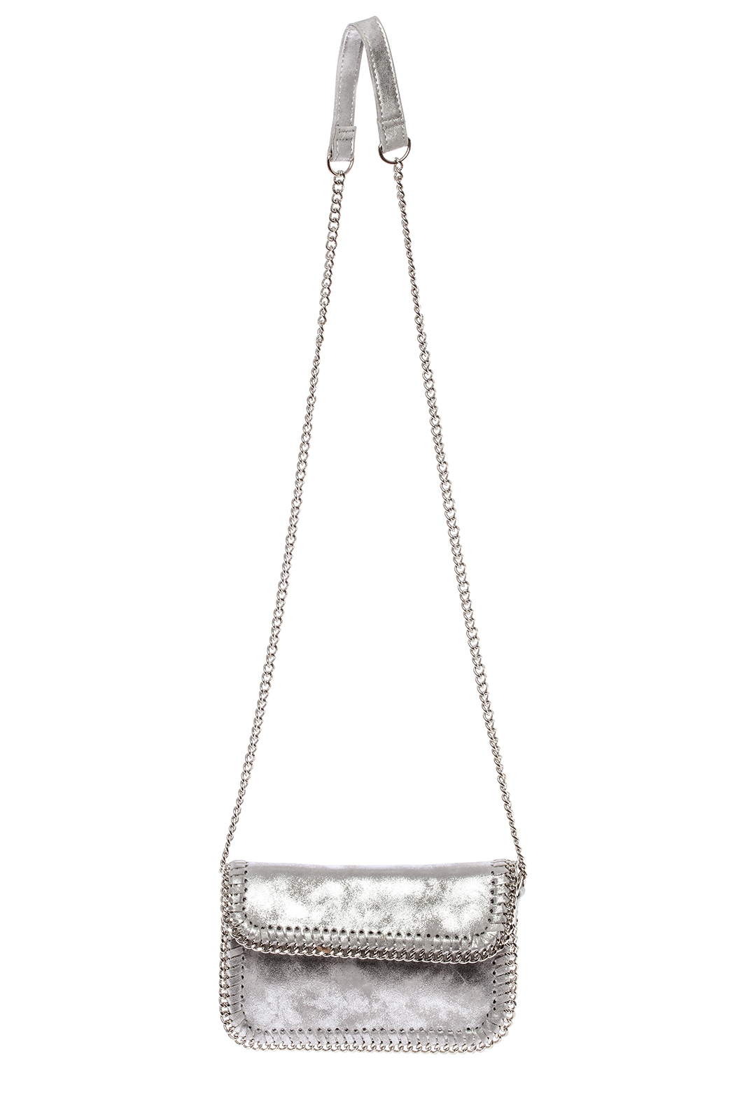 Sondra Roberts Silver Crossbody Bag - Main Image