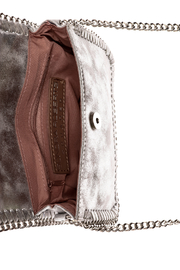 Sondra Roberts Silver Crossbody Bag - Front full body