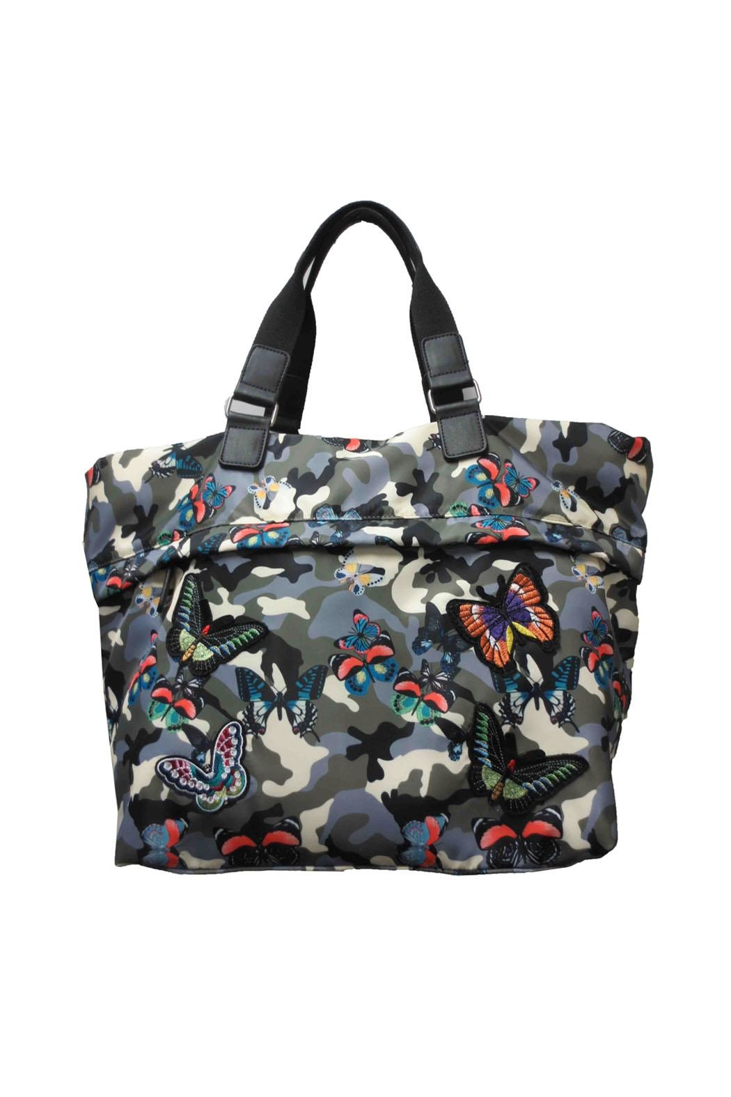 Sondra Roberts Butterfly Camo Tote Bag - Front Cropped Image