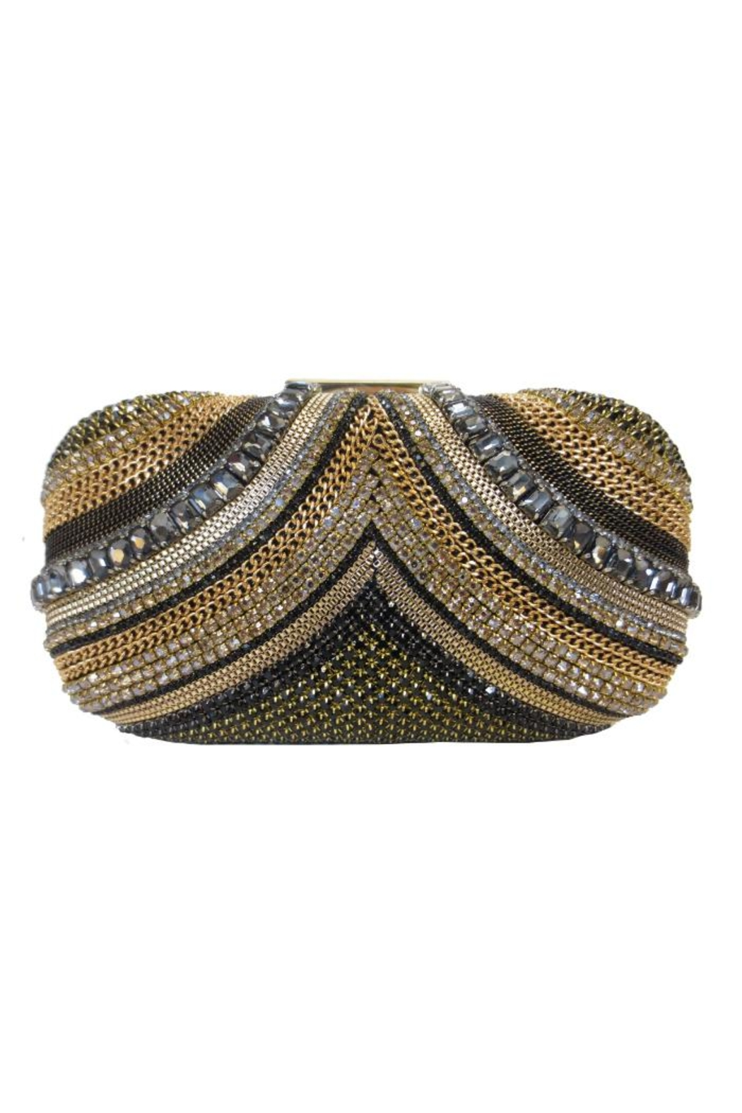 Sondra Roberts Crystal Chain Clutch - Front Cropped Image