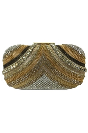 Sondra Roberts Crystal Chain Clutch - Front cropped