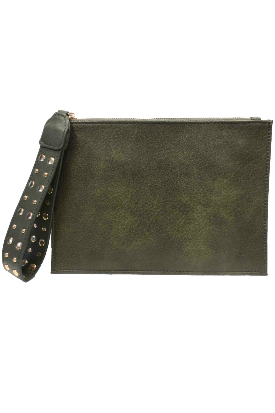 Sondra Roberts Faux Leather Wristlet - Front Cropped Image