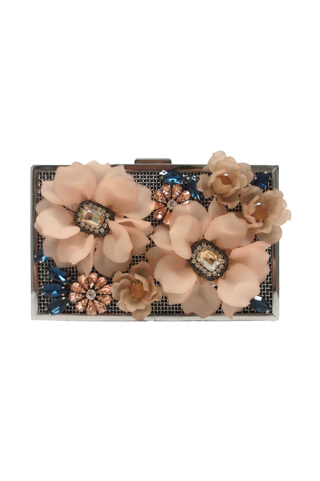 Sondra Roberts Floral Clutch - Front Cropped Image