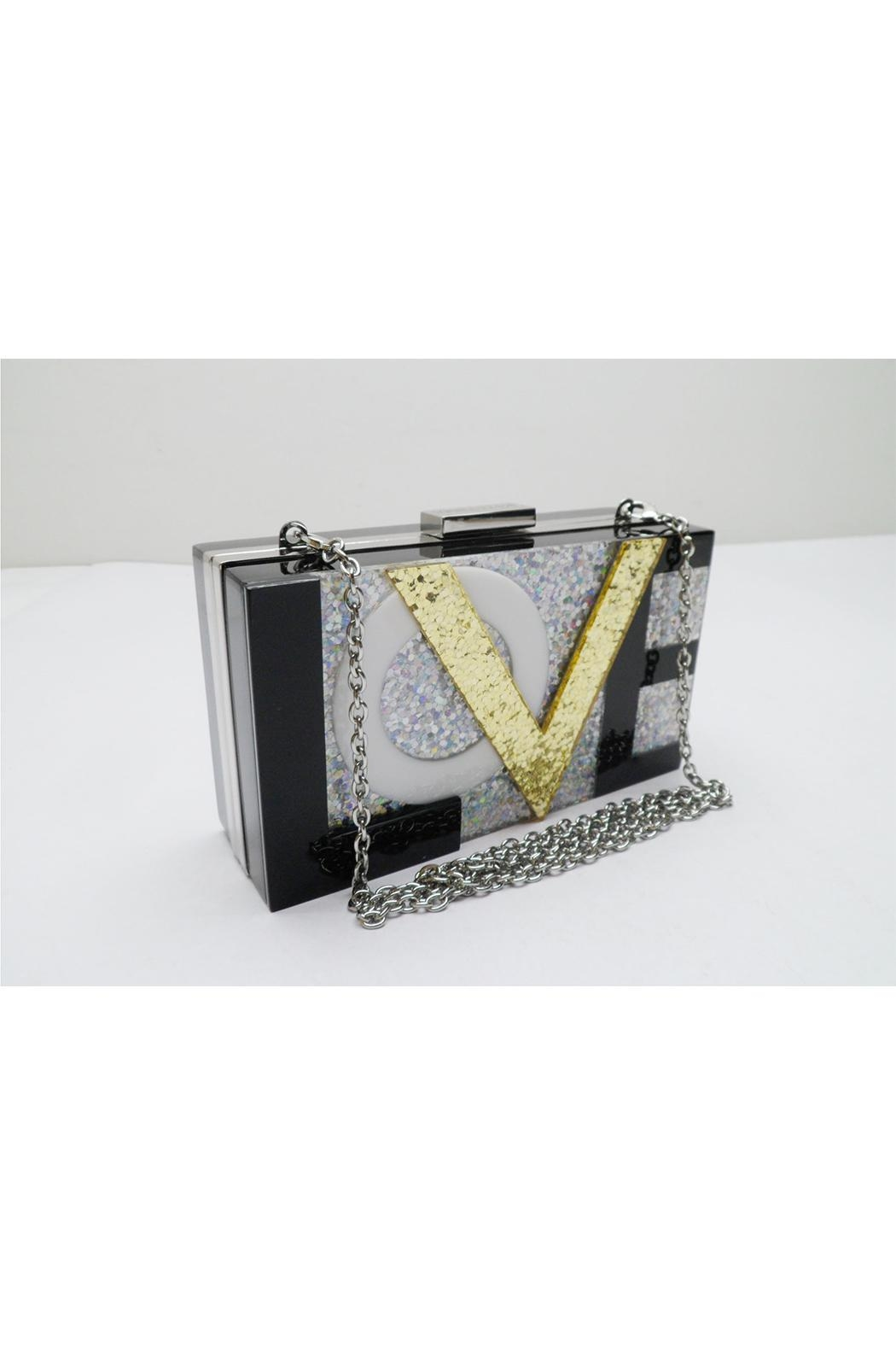 Sondra Roberts Love Box Clutch - Front Cropped Image