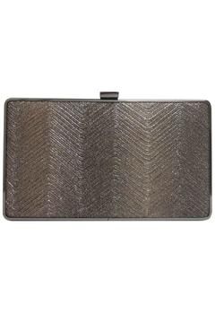 Shoptiques Product: Metallic-Wave Bronze Clutch