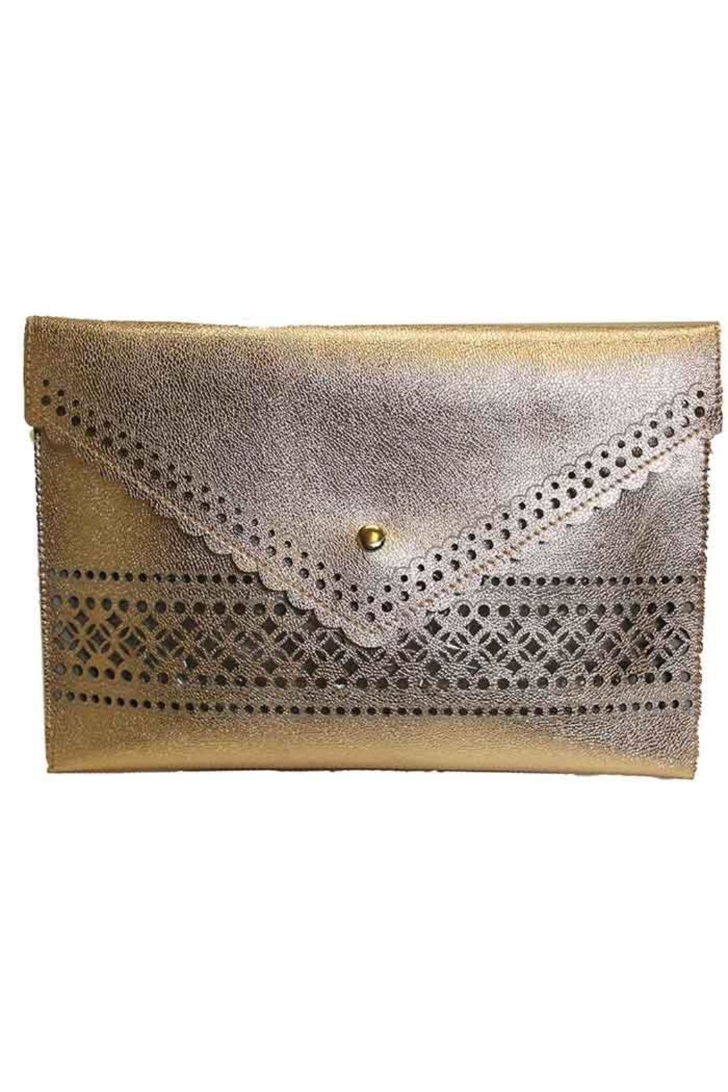 Sondra Roberts Perf'd Nappa Clutch - Front Cropped Image