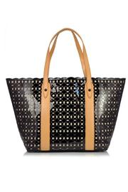 Sondra Roberts Perforated Patent Tote - Front cropped