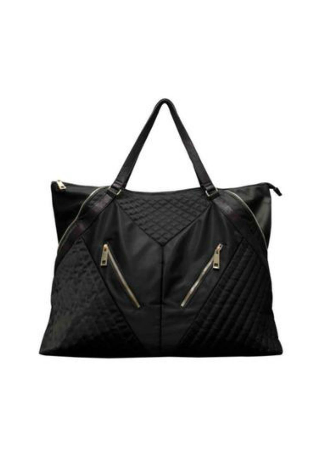 Sondra Roberts Quilted Nylon Weekender Front Cropped Image
