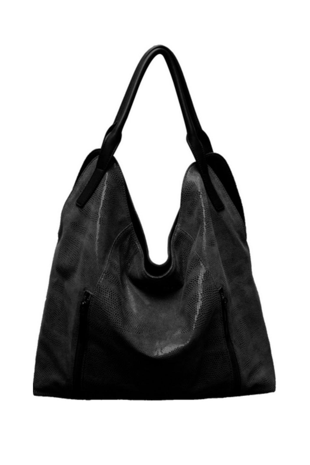 Sondra Roberts Snake Texture Leather Bag Front Cropped Image