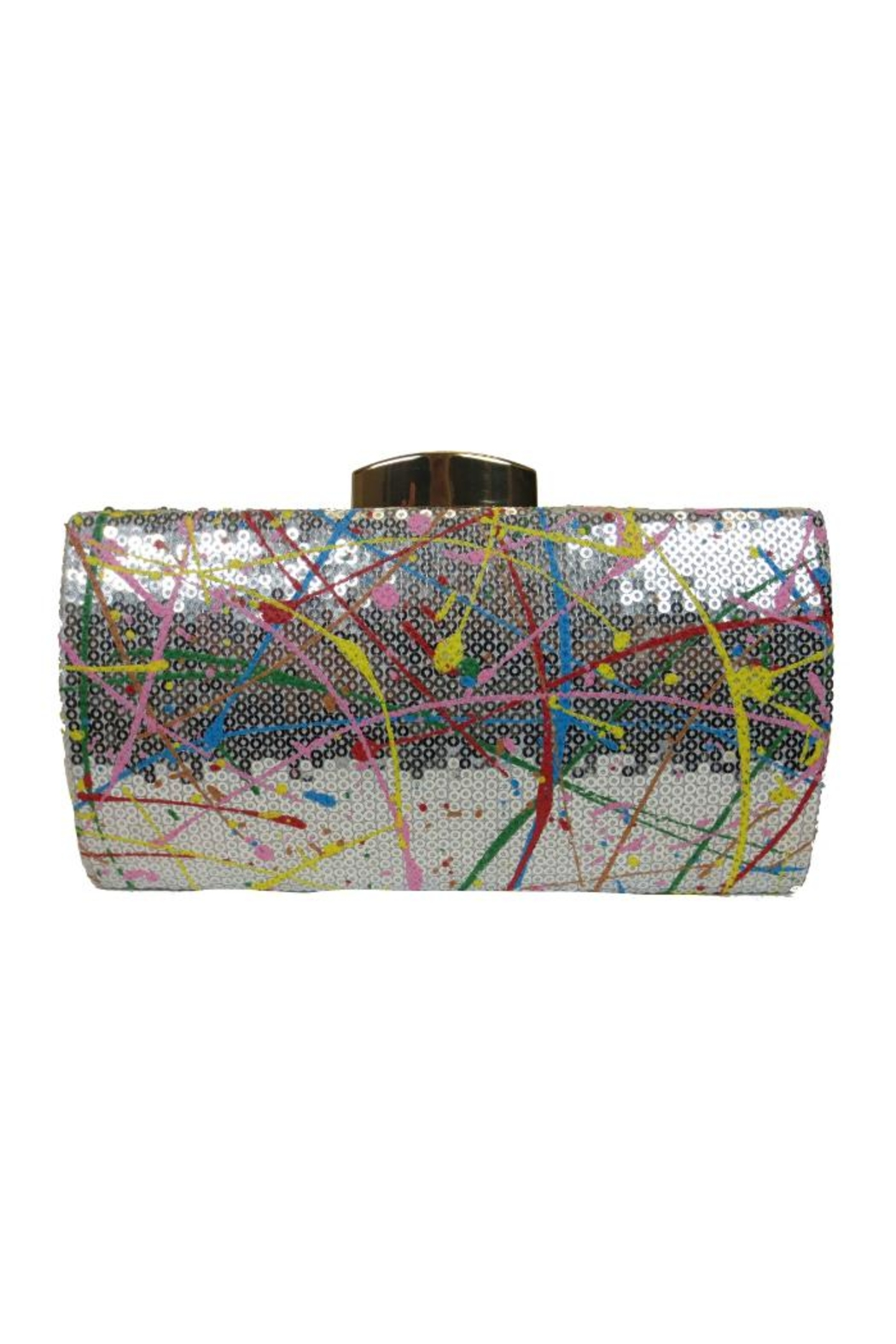 Sondra Roberts Splatter Paint Clutch - Front Cropped Image
