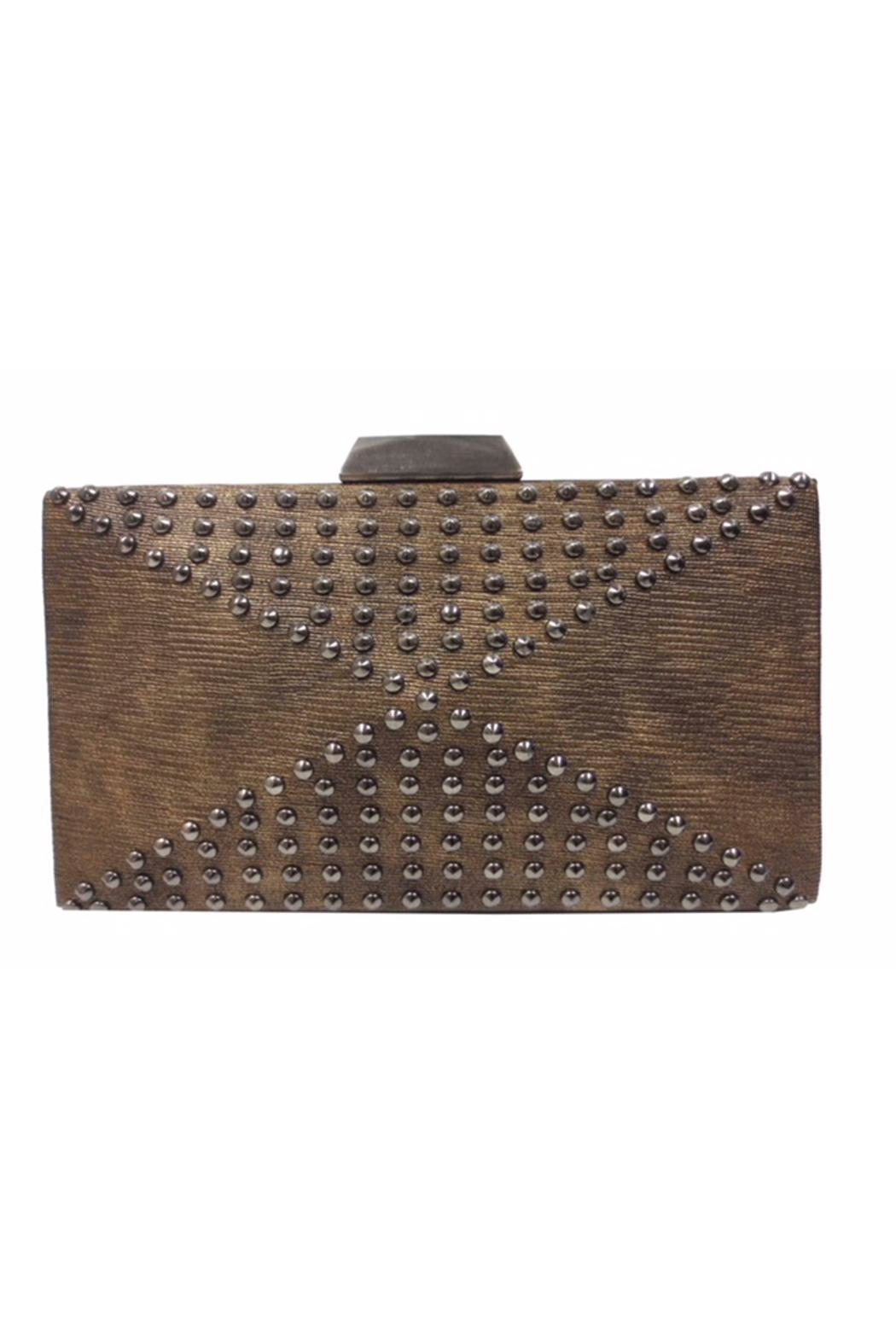 Sondra Roberts Studded Evening Clutch - Front Cropped Image