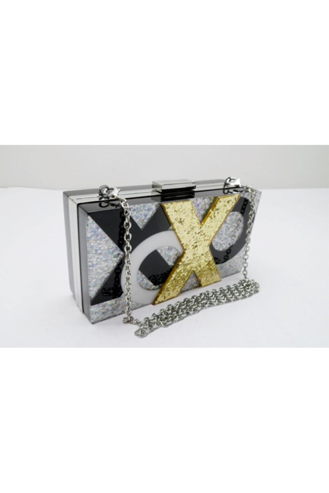 Sondra Roberts Xoxo Box Clutch - Front Cropped Image