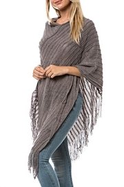 Song and Sol Fringed Crocheted Poncho - Product Mini Image