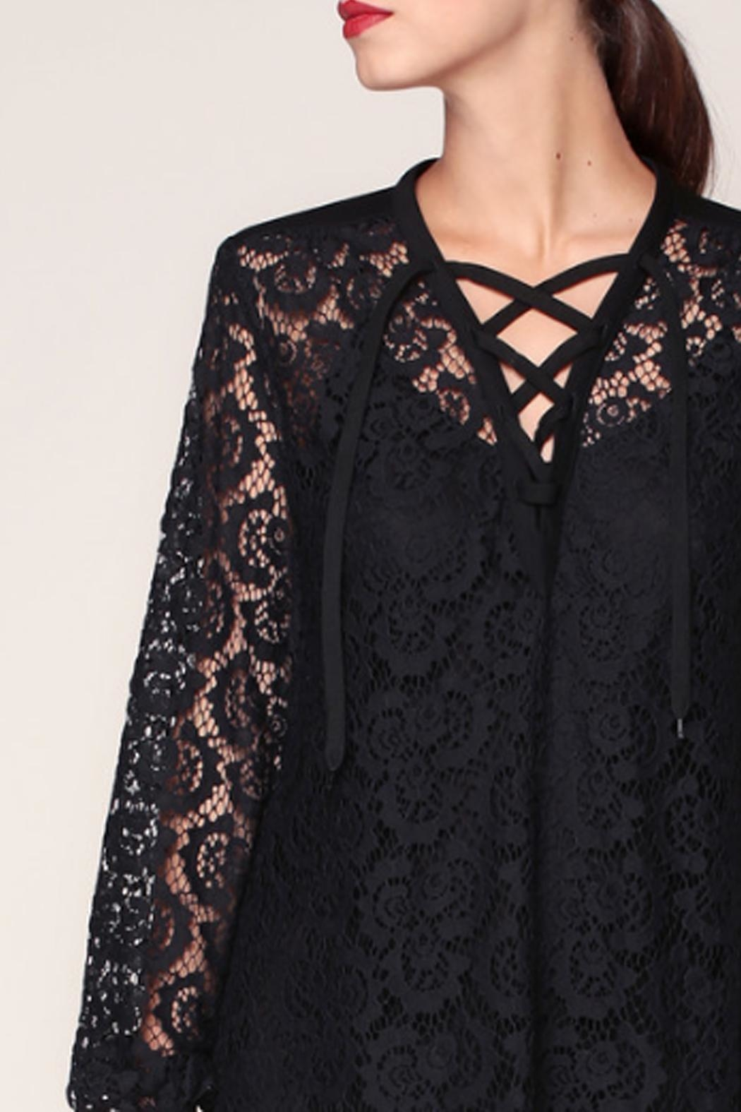 Sonia by Sonia Rykiel Black Lace Dress - Back Cropped Image
